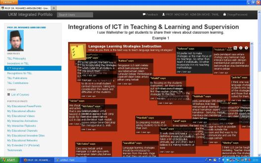 Integration of ICT in Teaching & Learning