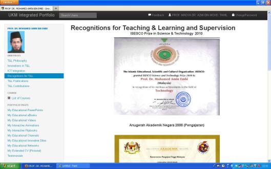 Recognitions in Teaching & Learning