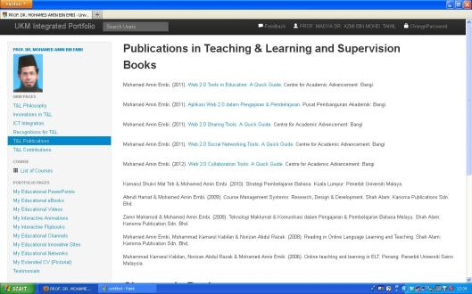 Publications in Teaching and Learning