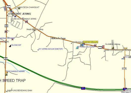 Perangkap Hadlaju 60km/j di KM 91 Jalan Ipoh -Butterworth, berhampiran Changkat Jering