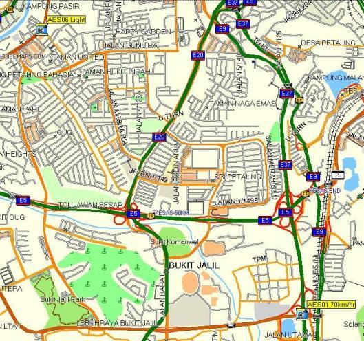 Perangkap Hadlaju Selepas Tol Sungai Besi dan Lampu Trafik Jalan Klang Lama