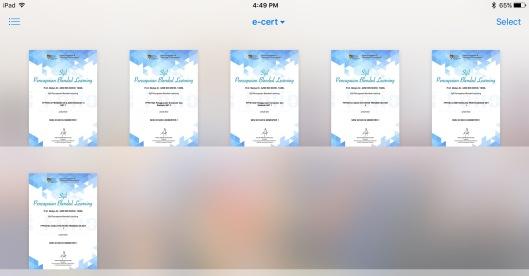 e-Certs for Semester 1 2015/2016